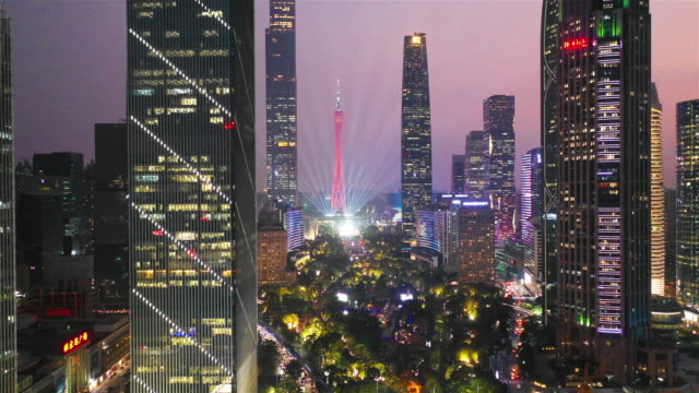 都市景観と広州市のスカイライン - 中国 広州市点の映像素材/bロール