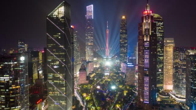都市の景観とタイムラプス、広州市のスカイライン - 中国 広州市点の映像素材/bロール