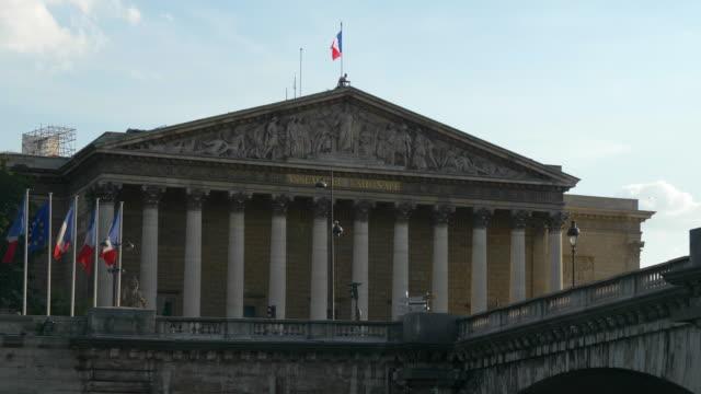 stadsbilden - assemblee nationale i paris - fransk kultur bildbanksvideor och videomaterial från bakom kulisserna