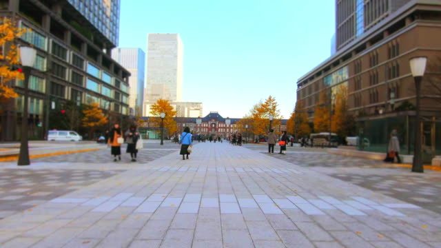 Cityscape at Tokyo Station video