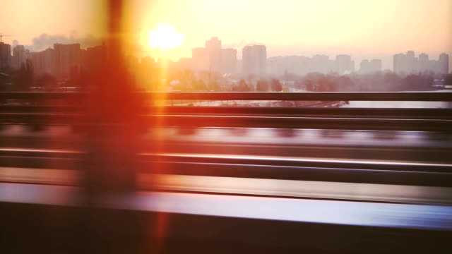 cityscape from the train window - train stock videos and b-roll footage