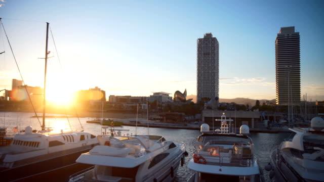 Cityscape harbor video