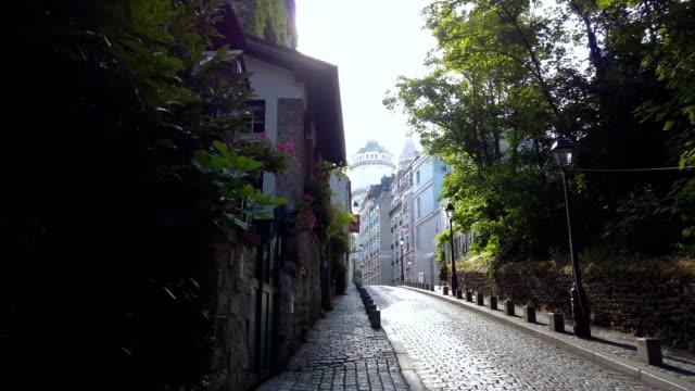 都市景観モンマトレ 、 パリ、 フランス - 記念建造物点の映像素材/bロール