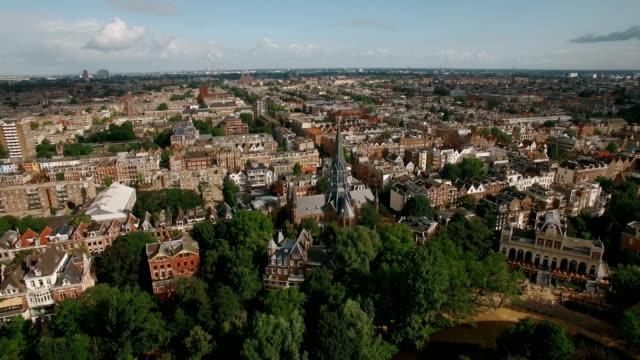stadsbilden i amsterdam, flygfoto - drone amsterdam bildbanksvideor och videomaterial från bakom kulisserna