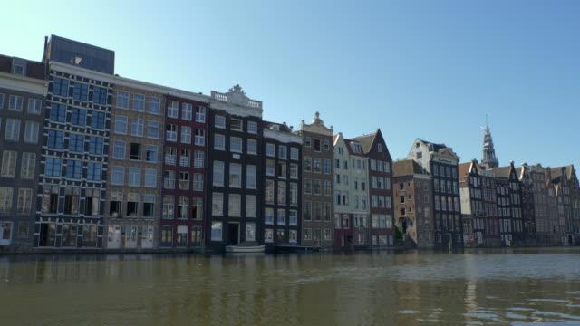 vídeos y material grabado en eventos de stock de paisaje urbano de ámsterdam desde el barco - estrecho