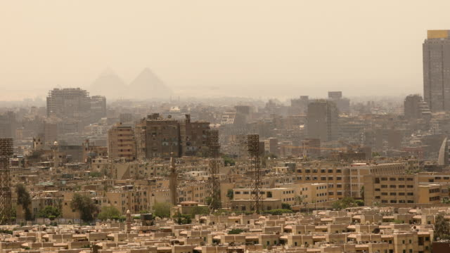 Cityscape of Cairo in Egypt video
