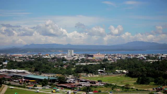Cityscape of Davao Philippines Horizon - a video
