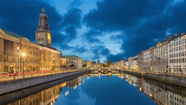 göteborgs stadsbild från stora hamnkanalen - gothenburg bildbanksvideor och videomaterial från bakom kulisserna