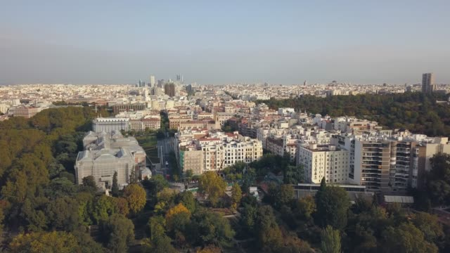 cityscape of madrid - madrid video stock e b–roll