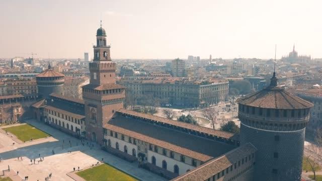 cityscape of milan - milan video stock e b–roll