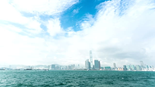 cityscape of modern city,hongkong,time lapse video