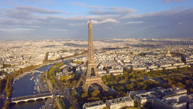 cityscape of paris - landmarks stock videos and b-roll footage