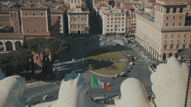 Stadtansicht von der Piazza Venezia und Rom in 4 K – Video