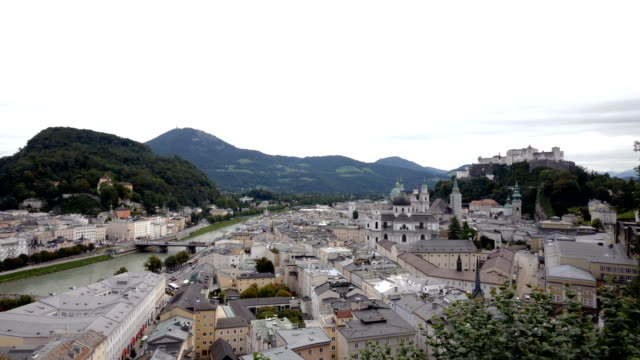 cityscape of salzburg - barocco video stock e b–roll