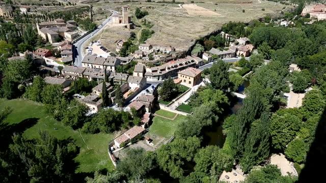 Cityscape of Segovia from Alcazar video