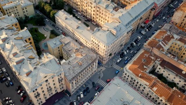 cityscape of st. petersburg - san pietroburgo russia video stock e b–roll