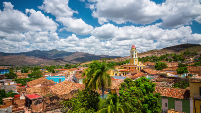 TIME LAPSE Cityscape of Trinidad, Cuba. video