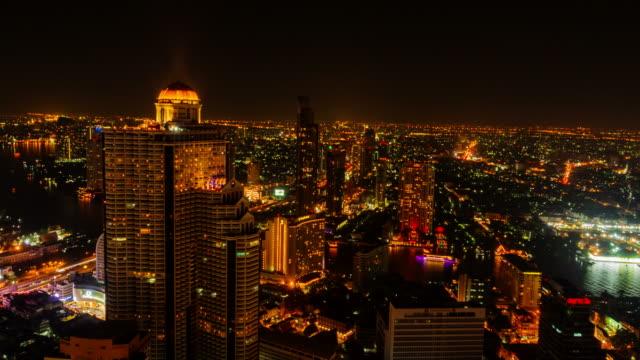 Cityscape time lapse of Bangkok,Thailand video