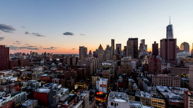NYC Cityscape Time Lapse Sunset