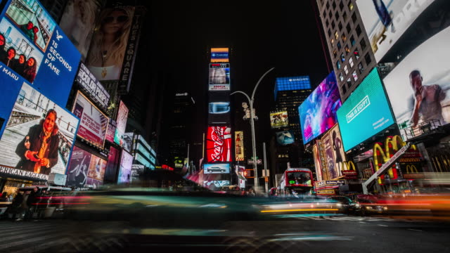 4K Cityscapes, Landscapes & Establishers : Times Square New York City video