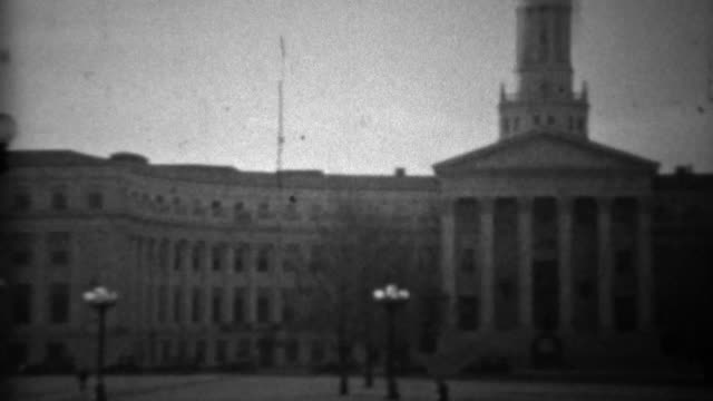1933: Civic Center Courthouse downtown classic building architecture. video
