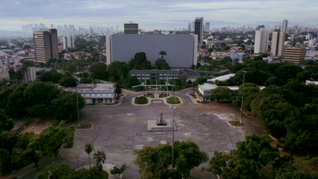Civic Square and Palaces in Goiânia, GO, Brazil video