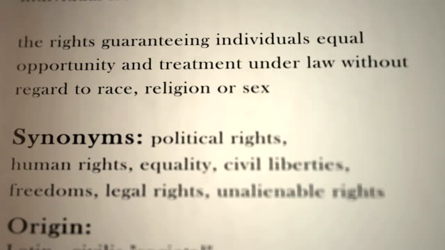 Civil Rights Definition This animation includes a definition of the word civil rights civil rights stock videos & royalty-free footage