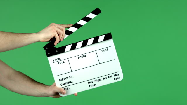 clapper scheda - battere le mani esprimere a gesti video stock e b–roll