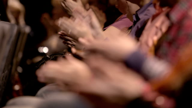 Clapping hands of people attending an event video