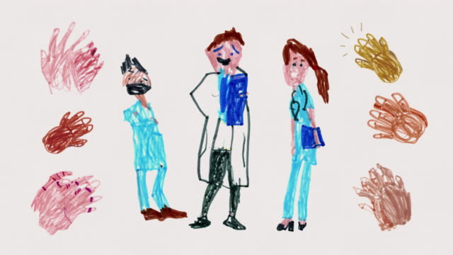Clapping Nurses and Doctors - Animated Child's Drawing