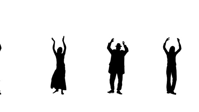 Clapping  People Silhouettes video