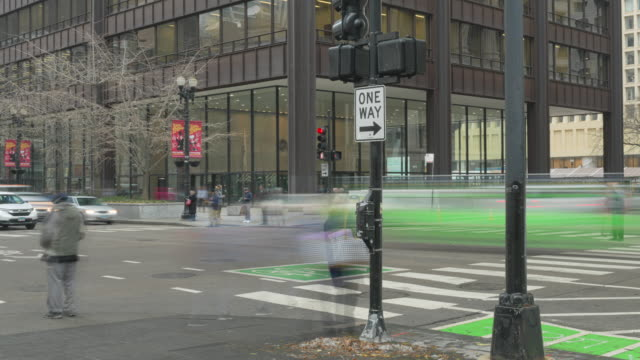 Clark and Randolph Intersection Chicago Timelapse video