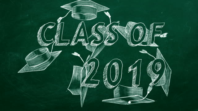 class of 2019 - graduation cap stock videos & royalty-free footage