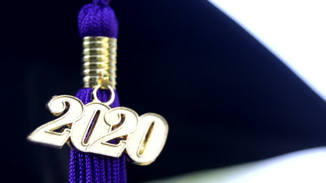 Class of 2020 Graduation Ceremony Tassel Black Closeup of a 2020 Graduation Tassel at a graduation ceremony. 2020 stock videos & royalty-free footage