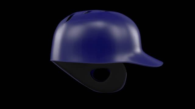 vídeos de stock, filmes e b-roll de classic baseball capacetes 360 loop de rotação - softbol esporte