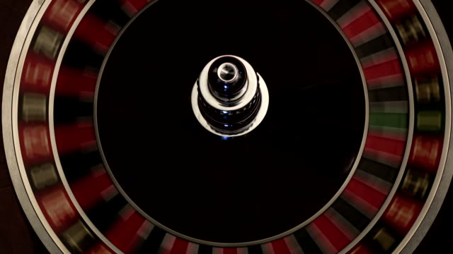 Classic casino roulette wheel black video