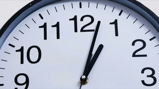 Classic clock time lapse 1:00 [001] video