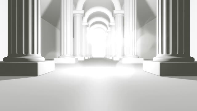 Classic Columns Background 3D Render Classic Columns Background architectural column stock videos & royalty-free footage