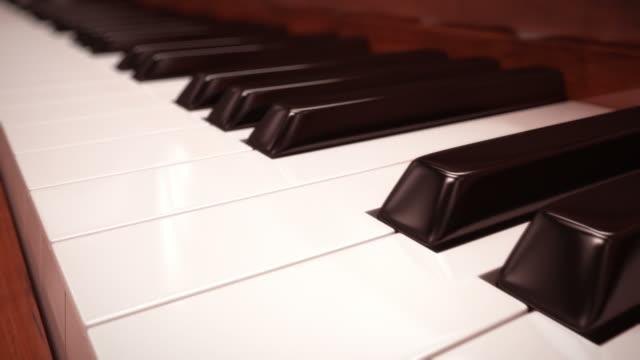 Classic piano keyboard close-up. Loopable CG. video