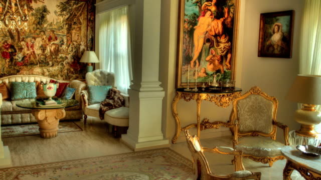 classic style living room time lapse - classical architecture stock videos & royalty-free footage