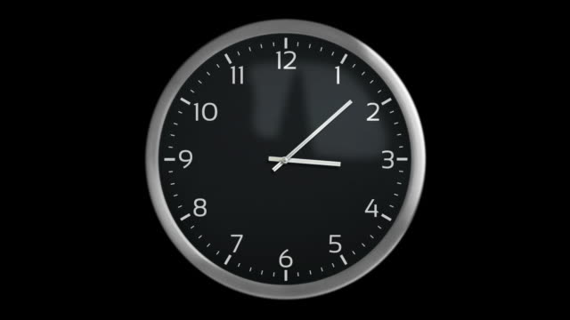 Classic wall clock. 1 frame per minute. Loopable. Black. Wall clock with 12 hours, you can choose any hour or minute. Loopable. Each frame equals 1 minute. Black background. Full HD. Animation created exclusively for iStockphoto. wall clock stock videos & royalty-free footage