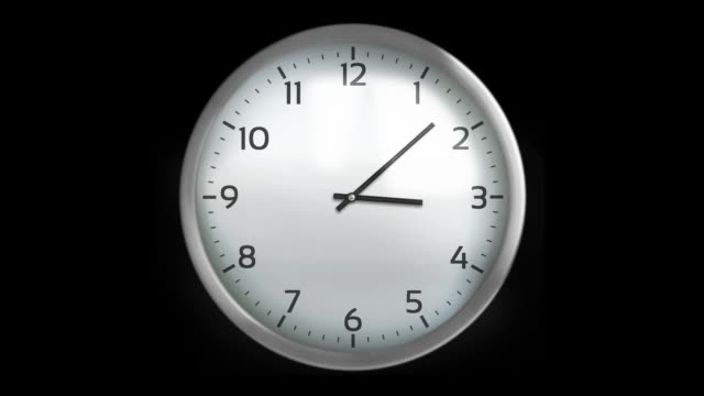 Classic wall clock. 1 frame per minute. Loopable. White. Wall clock with 12 hours, you can choose any hour or minute. Loopable. Each frame equals 1 minute. Black background. Full HD. Animation created exclusively for iStockphoto. wall clock stock videos & royalty-free footage