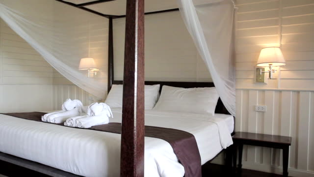 Classic wooden bedroom interior designed, Bangkok Thailand video