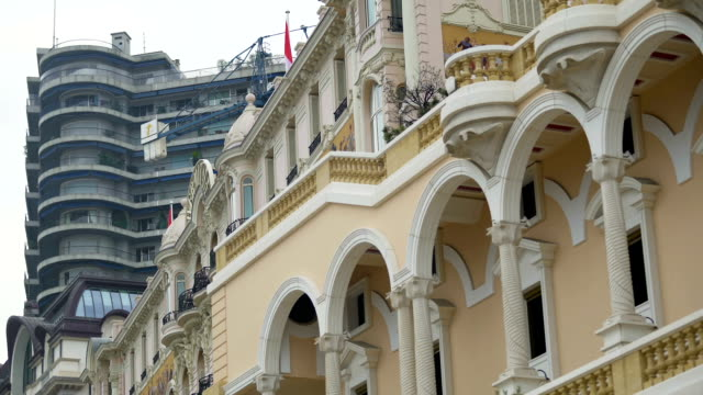 Classical and modern architecture contrast, world heritage preservation, history video