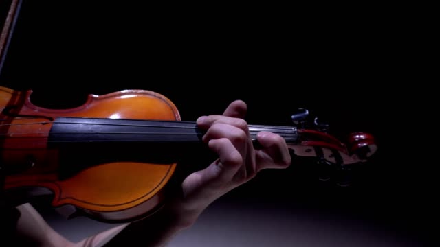 Classical music: Violinist playing at the concert video