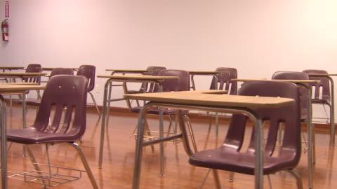 vidéos et rushes de bureau en salle de classe - panoramique