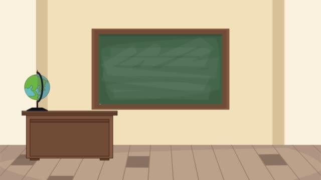 Bидео Classroom interior scenery HD animation