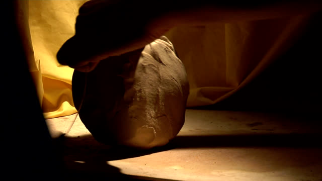 Clay Hands of the master knead clay. us coin stock videos & royalty-free footage