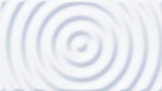 vídeos de stock, filmes e b-roll de animação 3d limpa e macia do padrão abstrato branco de ondulações 4k stock video - ondulado