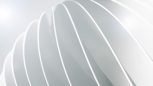 Saubere und weiche Hintergrundanimation. Abstrakte einfache Kreise Bewegung. (Loopable) – Video